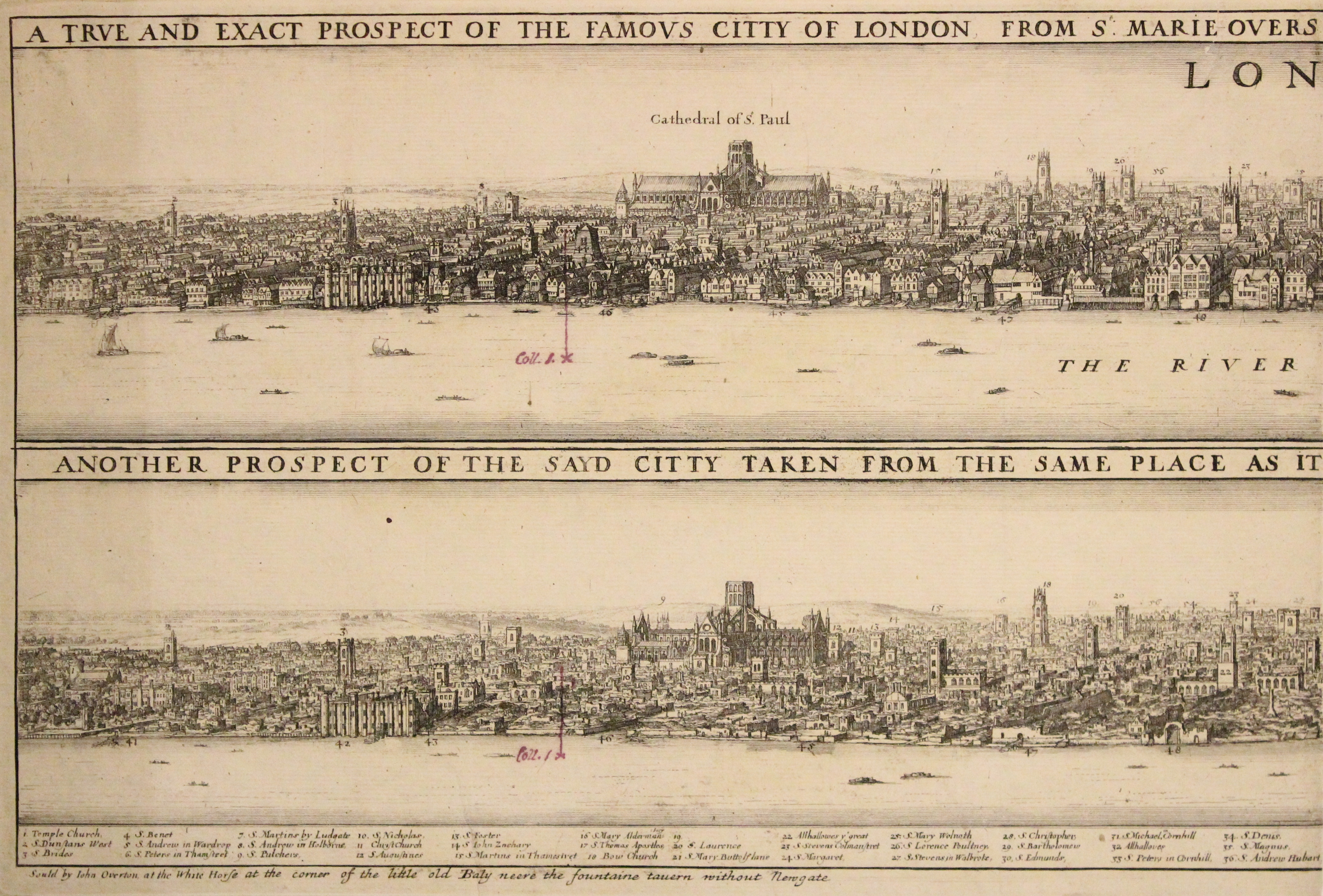 London before and after the fire