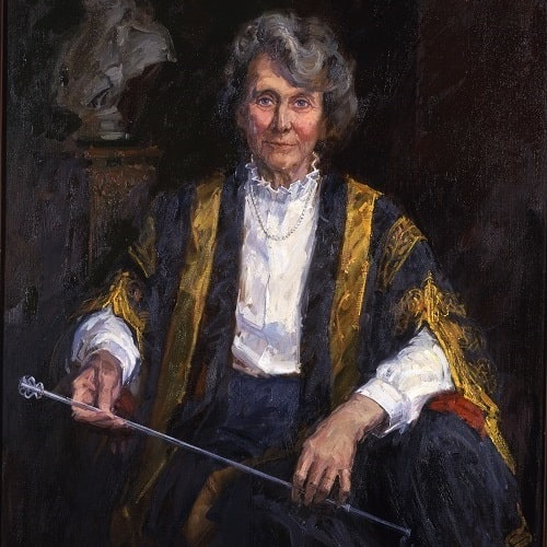 Portrait of Dame Margaret Elizabeth Harvey Turner-Warwick by David Poole, 1992