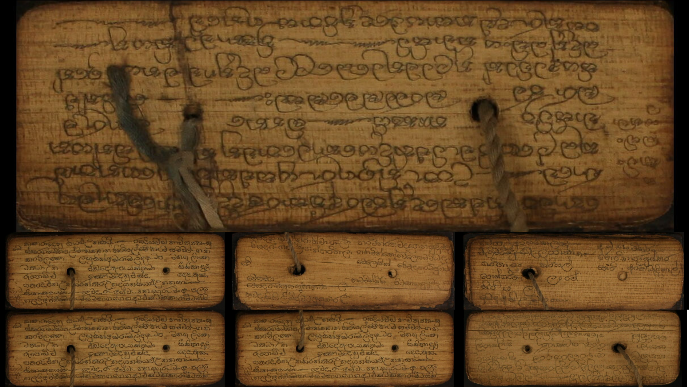 Several pages from the 19th century Sri Lankan doctor's manual.