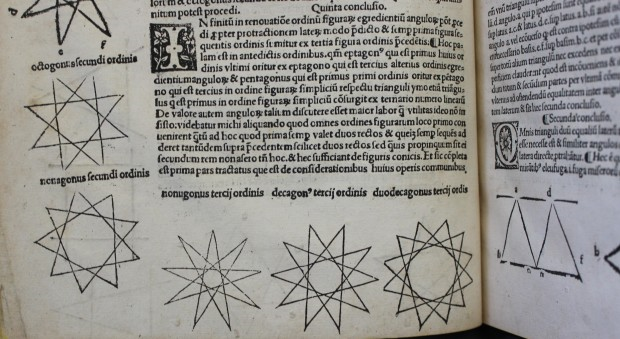 Geometria speculativa. Thomas Bradwardine, published Paris, 1511.