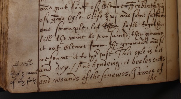 Collection of medical receipts. Sarah Wigges and others, 1616 and later