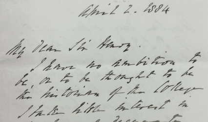 Some of William Munk's correspondence, 1884