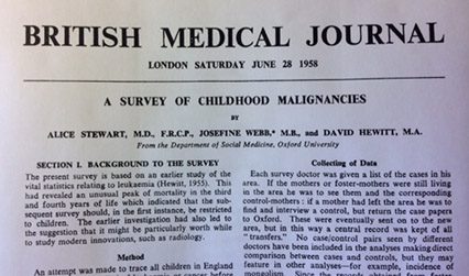 Article printed in the British Medical Journal.