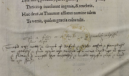 Recipe written in early 16th century English handwriting