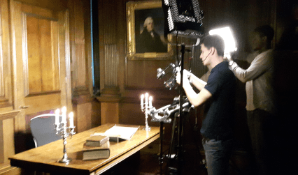 Damiano Petrucci of Chocolate Films shoots some close-up shots of some of the RCP's rare books that will feature in our Ceaseless motion exhibition