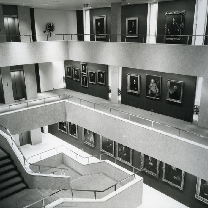 Photo of central staircase