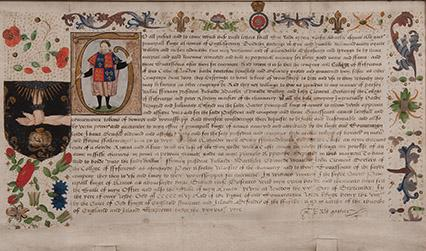 Grant of arms manuscript
