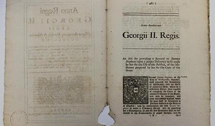 Printed document in Latin headed 'George III Regis'