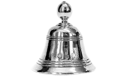 Silver table bell made in London in 1636