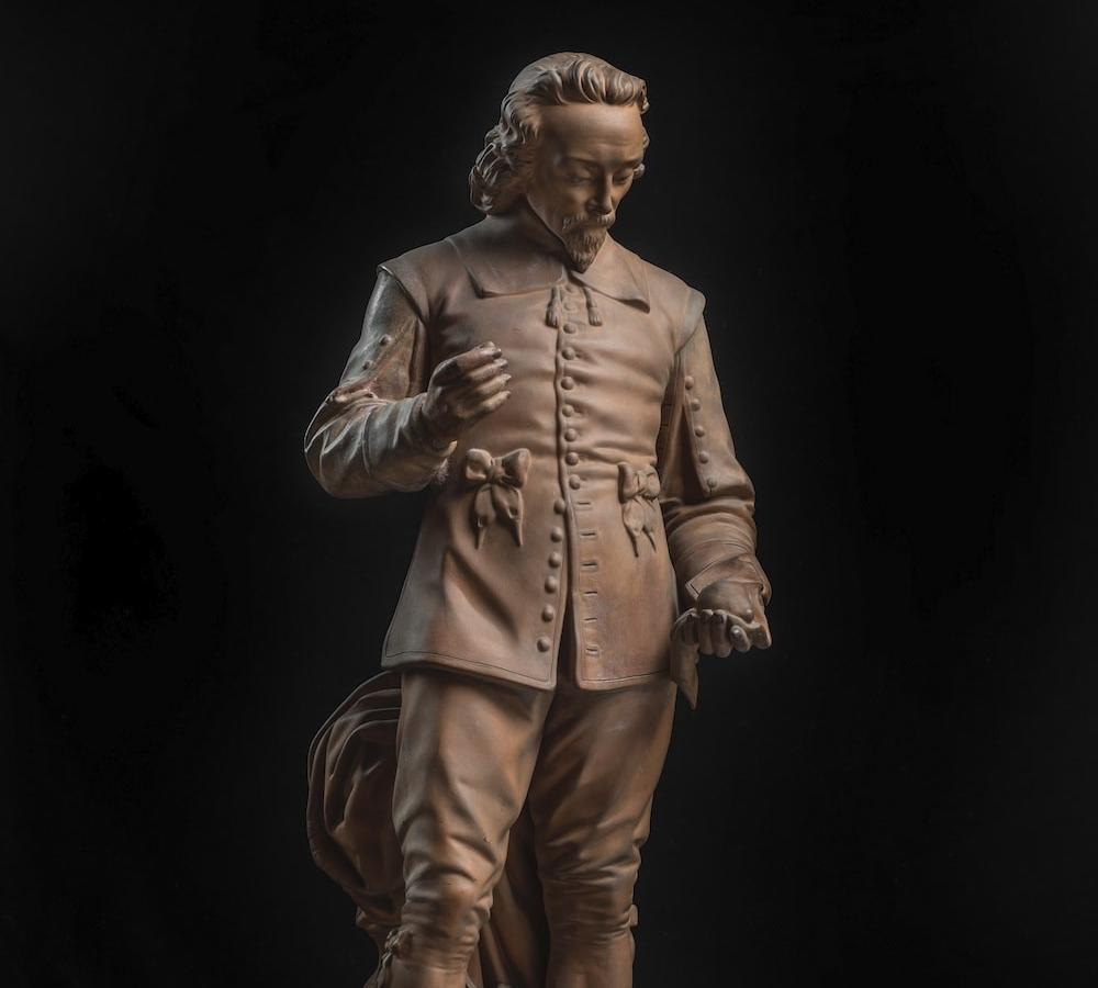 Terracotta statuette of William Harvey