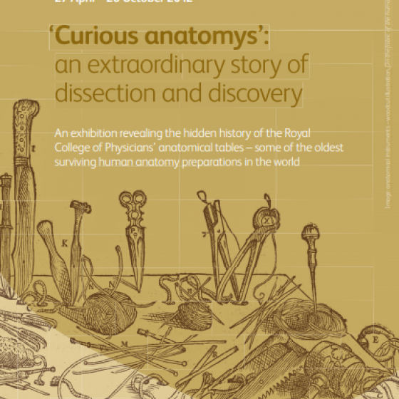 Curious Anatomys exhibition flyer