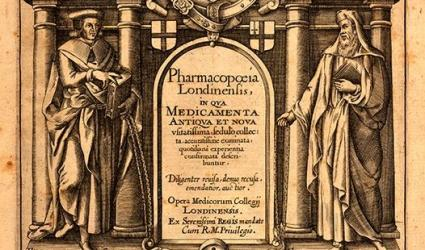 Pharmacopoeia Londinensis, 2nd edition by Royal College of Physicians, published in London, 1618