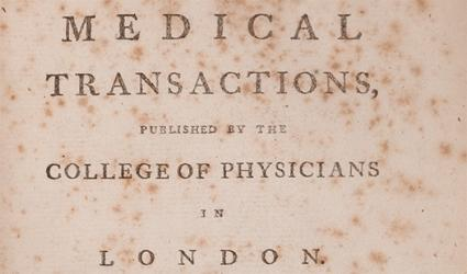 Medical transactions, volume 1 by Royal College of Physicians, published London, 1768